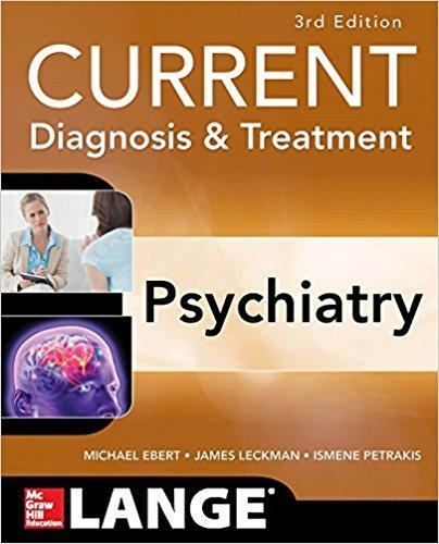 9780071754422 Current Diagnosis & Treatment Psychiatry