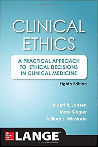 9780071845069 Clinical Ethics: A Practical Approach To Ethical...