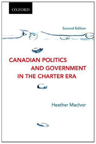 9780195447286 Canadian Politics & Government In The Charter Era