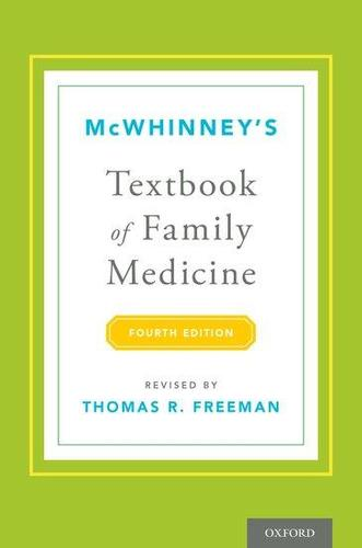 9780199370689 Mcwhinney's Textbook Of Family Medicine
