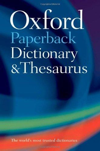 9780199558469 Oxford Paperback Dictionary & Thesaurus