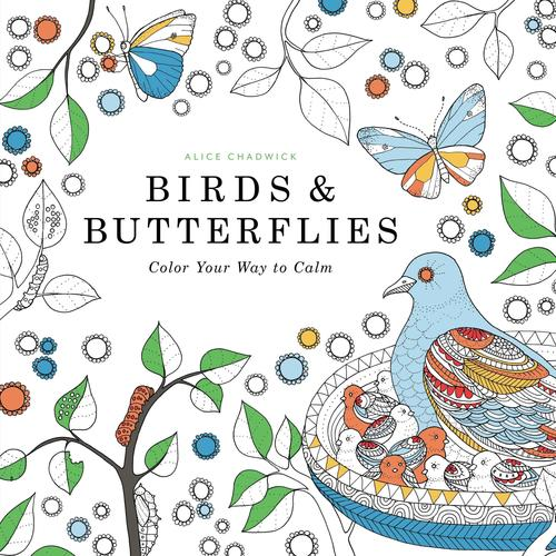 9780316350051 Birds & Butterflies: Color Your Way To Calm