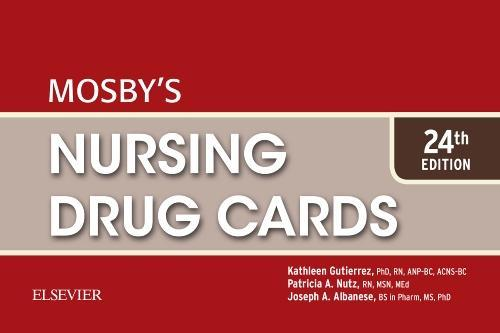9780323416382 Mosby's Nursing Drug Cards