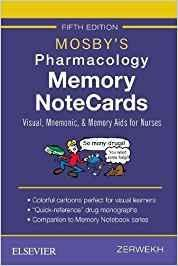 9780323549516 Mosby's Pharmacology Memory Notecards