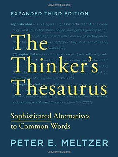 9780393351255 Thinker's Thesaurus: Sophisticated Alternatives To Common...
