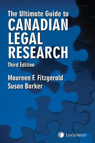 9780433489788 Ultimate Guide To Canadian Legal Research