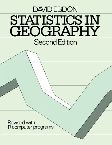 9780631136880 Statistics In Geography