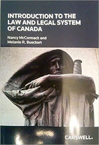 9780779853304 Introduction To The Law & Legal System Of Canada