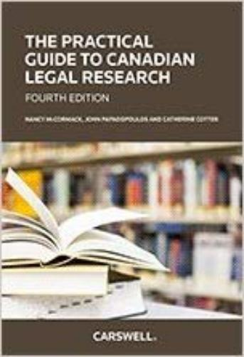 9780779864997 Practical Guide To Canadian Legal Research