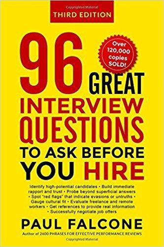 9780814439159 96 Great Interview Questions To Ask Before You Hire