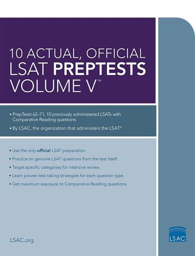 9780986045516 10 Actual Official Lsat Preptests Volume V