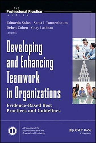 9781118145890 Developing & Enhancing Teamwork In Organizations