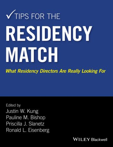 9781118860939 Tips For The Residency Match: What Residency Directors...