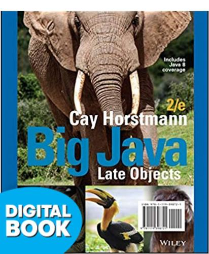 Big Java: Late Objects Etext