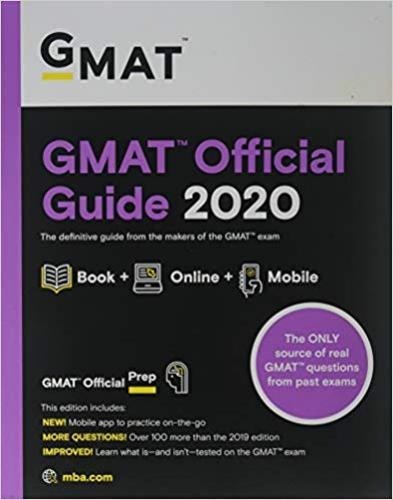 9781119576068 Gmat Official Guide 2020: Book + Online Question Bank