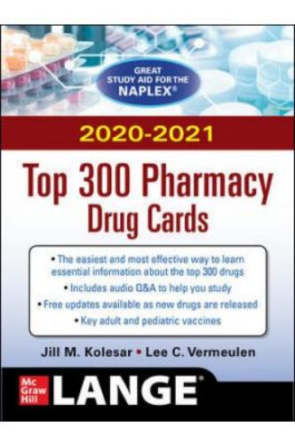 9781260457766 2020-2021 Top 300 Pharmacy Drug Cards