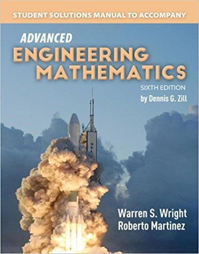 9781284106312 Student Solutions Manual For Advanced Engineering Math