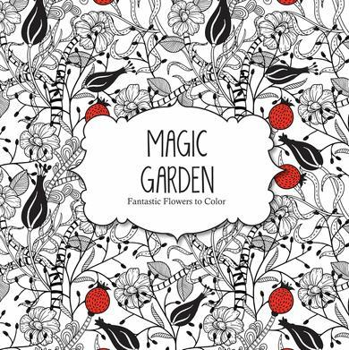9781438006390 Magic Garden: Fantastic Flowers To Color