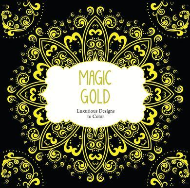 9781438008479 Magic Gold: Luxurious Designs To Color