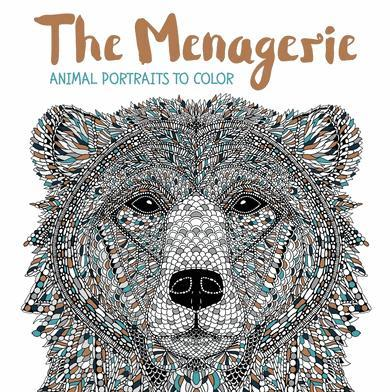 9781438008509 Menagerie: Animal Portraits To Color