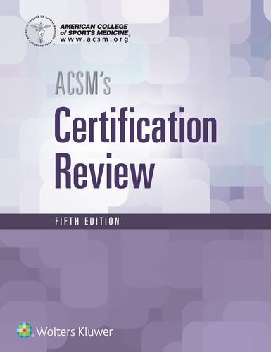 9781496338778 Acsm's Certification Review