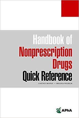 9781582122908 Handbook Of Nonprescription Drugs Quick Reference