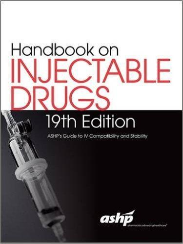 9781585285594 Handbook On Injectable Drugs