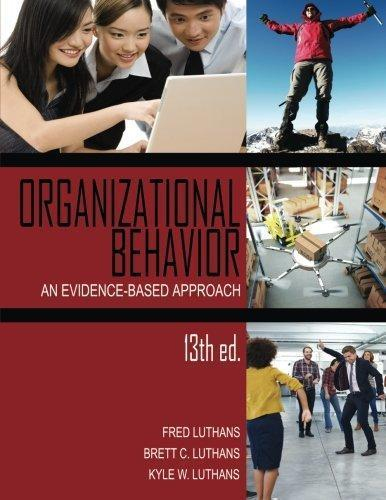 9781681231198 Organizational Behavior: An Evidence-Based Approach