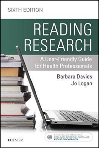 9781771720731 Reading Research: A User-Friendly Guide For Health...
