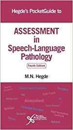 9781944883102 Hegde's Pocket Guide To Assessment In Speech-Language...